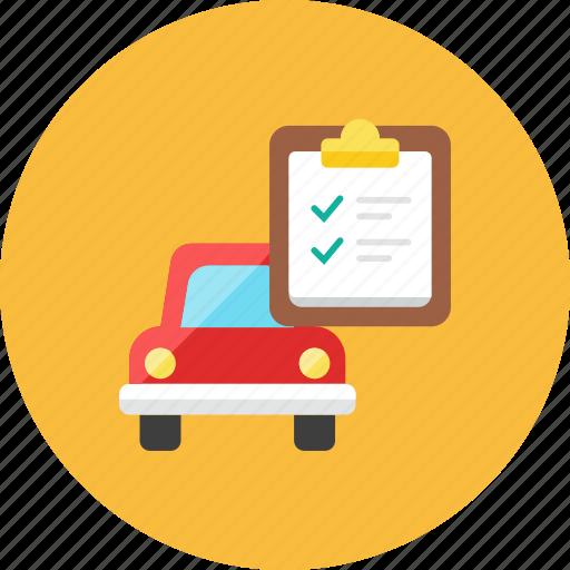 car, list icon
