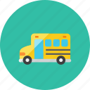 2, bus, school icon