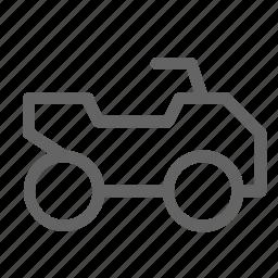 atv, quadricycle, vehicle icon
