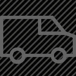 car, delivery, van icon