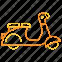 delivery, scooter, transport, transportation, vespa