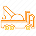 tow, tow truck, transport, transportation, truck icon