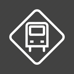 bus, bus stop, tourism, transport, transportation, travel, vehicle icon