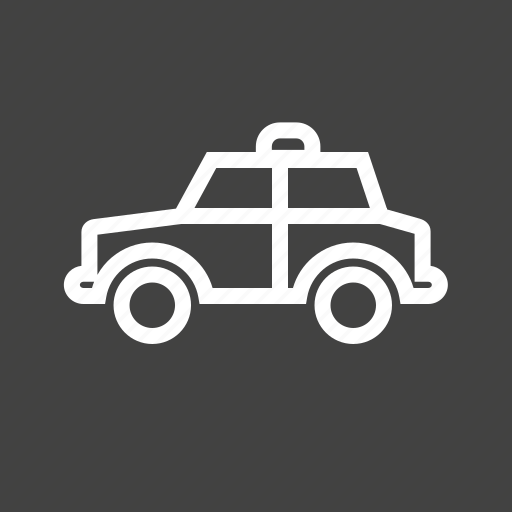 automobile, car, police, police man, siren, transport, vehicle icon