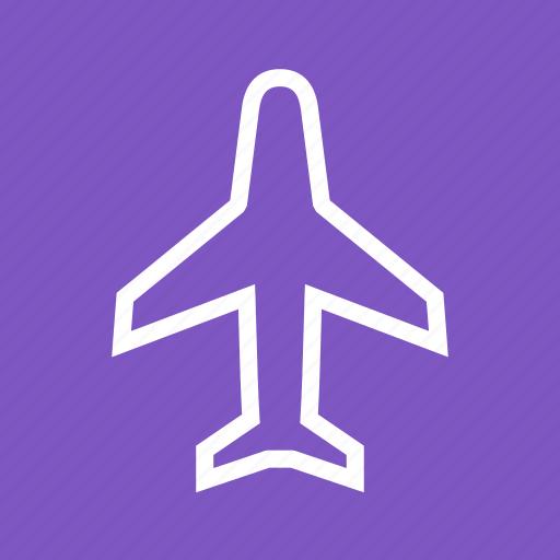 aeroplane, aircraft, airplane, flight, jet, plane, transport icon