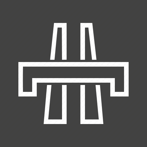 bridge, crossing, junction, point, road, spot, travel icon