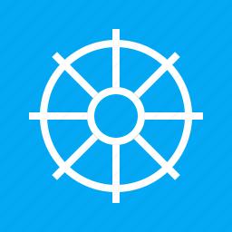 helm, rudder, ship wheel, steering, transport, travel, wheel icon