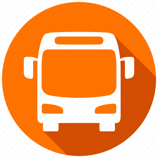 autobus, bus, direction, map, navigation, traveling icon