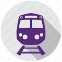direction, map, navigation, rail, railroad, train, traveling icon