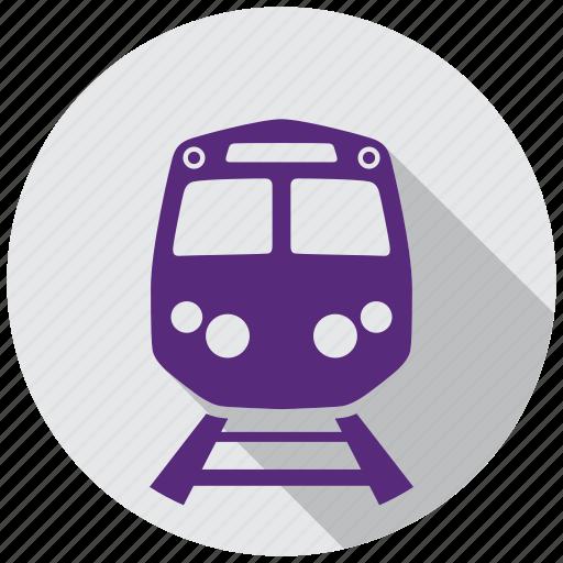 direction, map, navigation, rail, railroad, train, traveling icon