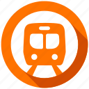 direction, metro, navigation, subway, train, transport, transportation icon