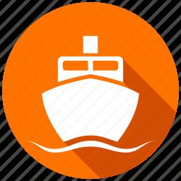 boat, ferry, map, navigation, ship, transport, transportation icon