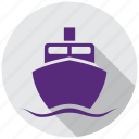 boat, ferry, map, navigation, ship, transport, transportation icon