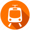 map, navigation, railroad, train, tram, transport, transportation icon