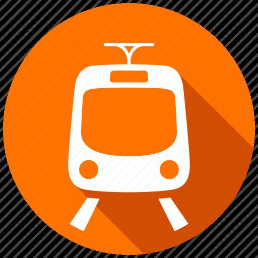 map, navigation, railroad, train, tram, transport, transportation icon