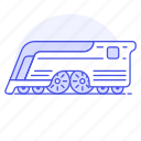 future, futuristic, land, other, railroad, railway, track, train, transport, transportation icon