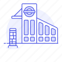 building, depot, entrance, land, other, railroad, railway, station, subway, train, transport, transportation icon