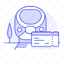 bullet, high, rail, railroad, railway, speed, ticket, track, train, transport, transportation icon