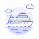 ferry, fluvial, maritime, ocean, other, sea, ship, transportation, vessel, waterborne, watercraft icon