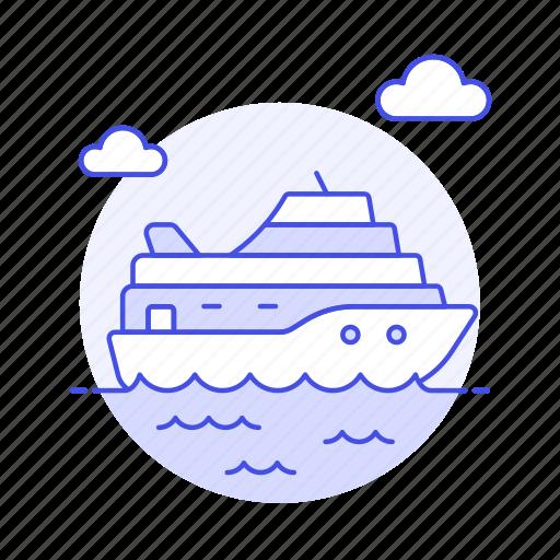 ferry, fluvial, maritime, ocean, other, sea, ship, transportation, vessel, waterborne, watercraft icon
