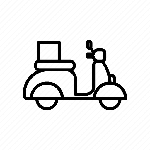 courier, delivery, icon, logistic, set, transportation, vespa icon