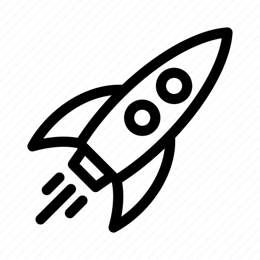 rocket, space, spaceship, startup icon