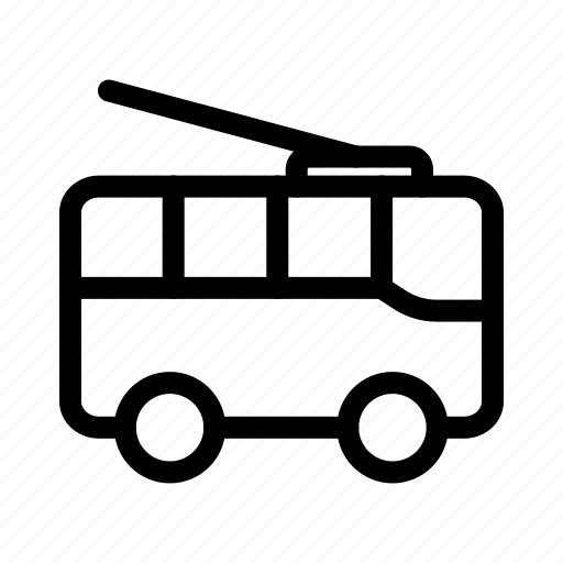 bus, transportation, trolley, trolleybus icon