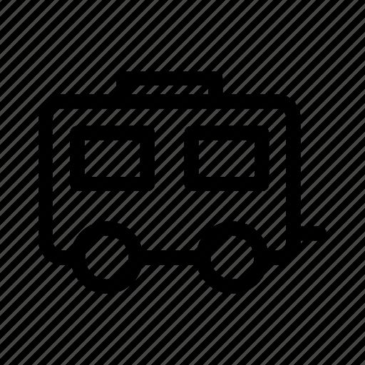camp, picnic, tourism, transportation, travel, vehicle icon