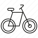 bicycle, ride, transport icon