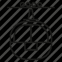 tram, transport, trolley icon