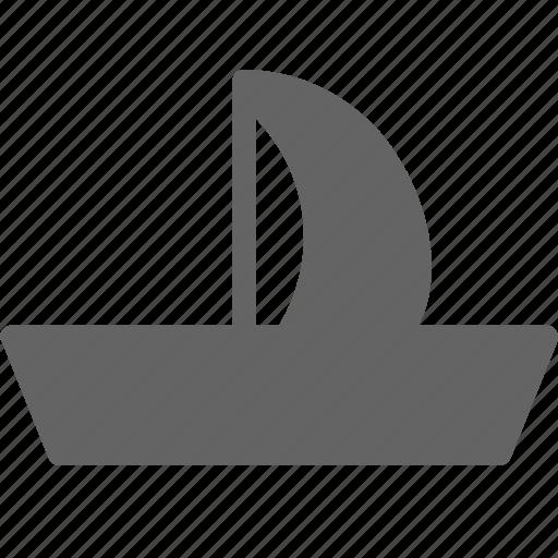 boat, sail, sailboat, ship icon