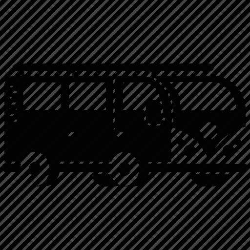 car, hipster, minivan, transportation, travel, van, vehicle icon