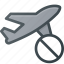 cancel, flight, plane, transport, transportation, vehicles icon