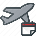 flight, plane, reservation, transport, transportation, vehicles icon