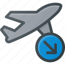 flight, landing, plane, transport, transportation, vehicles icon