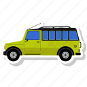 car, side, transit, van icon