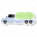 oil truck, transportation, delivery van, van, vehicle