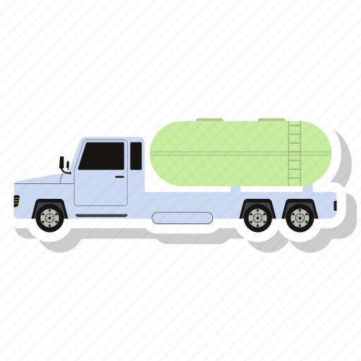 delivery van, oil truck, transportation, van, vehicle icon