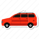 delivery, delivery van, transport, van, vehicle icon