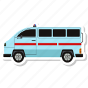 ambulance, emergency, hospital, vehicle icon