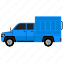 construction, dump, truck, vehivele icon