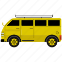 bus, car, transportation, van, vehicle