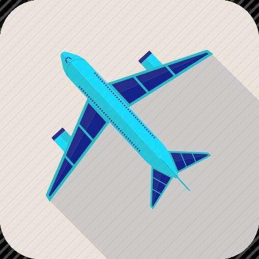 aircraft, airport, flight, plain icon