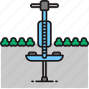 pogo, pogo stick, stick icon