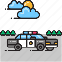 car, police, police car, sheriff icon