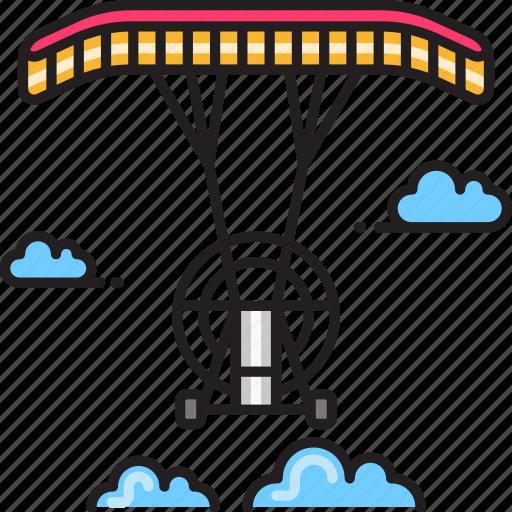 parachute, powered icon