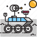 moon rover, rover icon