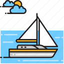 boat, sail, sailboat, yacht icon