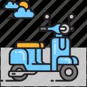 bike, motorbike, scooter, vespa