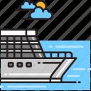 boat, cruise, sail, ship